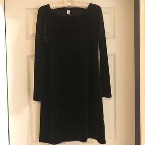 Old Navy Black Velvet Dress medium holiday